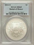 Modern Issues, 2011-S $1 Medal of Honor MS69 PCGS. PCGS Population (487/125). NGCCensus: (247/328). Numismedia Wsl. Price for problem fr...