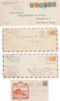 Political:Presidential Relics, Franklin D. Roosevelt: Philatelic Covers From His Personal Stamp Collection.... (Total: 4 Items)