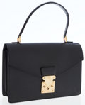 Luxury Accessories:Bags, Louis Vuitton Black Epi Leather Small Portfolio Shoulder Bag. ...
