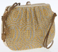 Luxury Accessories:Bags, Judith Leiber Gold Woven Rope Clutch Bag. ...