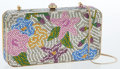 Luxury Accessories:Bags, Judith Leiber Full Bead Crystal Floral Minaudiere Evening Bag. ...