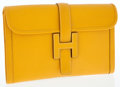 Luxury Accessories:Bags, Hermes Jaune Epsom Leather Jige MM H Clutch Bag. ...