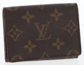 Luxury Accessories:Accessories, Louis Vuitton Classic Monogram Canvas Credit Card Wallet . ...