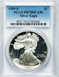 Modern Bullion Coins: , 1989-S $1 Silver Eagle PR70 Deep Cameo PCGS. PCGS Population (801).NGC Census: (835). Mintage: 617,694. Numismedia Wsl. Pr...