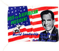 Political:Textile Display (1896-present), Richard Nixon: Silk Campaign Flag....