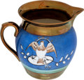 Antiques:Decorative Americana, American Eagle: Copper Lustre Creamer....