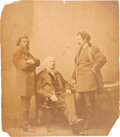Photography:Official Photos, Horace Greeley: Huge Mounted Albumen of Tribune Staff. ...