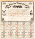 Transportation:Railroad, Early 1859 California Railroad Bond. ...