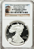 Modern Bullion Coins, 2012-S $1 Silver Eagle, San Francisco Set, Early Releases PR70Ultra Cameo NGC. NGC Census: (0). PCGS Population (4262). N...