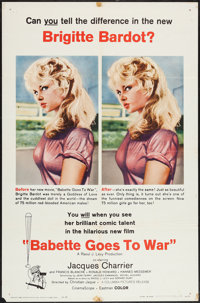 "Babette Goes to War (Columbia, 1960). One Sheet (27"" X 41""). Comedy"