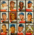 Baseball Cards:Sets, 1953 Topps Baseball Partial Set (212/274) With Mantle And Paige. ...