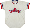 Baseball Collectibles:Uniforms, 1975 Tulsa Drillers Game Worn Jersey - Possibly Used by David Clyde....