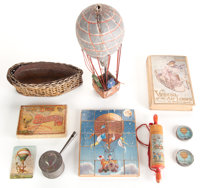 Fine Group Lot of Vintage Children's Novelties Related to Ballooning, Circa 1900