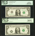 Error Notes:Error Group Lots, Fr. 1911-H $1 1981 Federal Reserve Note. PCGS Gem New 65PPQ; Fr.1931-I $1 2003A Federal Reserve Notes. PCGS Choice About New ...(Total: 2 notes)