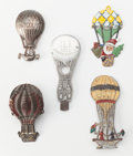 Antiques:Decorative Americana, Lot of Five Metal Ballooning Novelties, from the Early 20thCentury.... (Total: 5 Items)