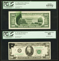 Error Notes:Ink Smears, Fr. 2066-D $20 1963A Federal Reserve Note. PCGS Gem New 65PPQ; Fr.2073-B $20 1981 Federal Reserve Note. PCGS Choice About New...(Total: 2 notes)