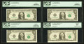Error Notes:Error Group Lots, Fr. 1915-G $1 1988A Federal Reserve Note. PCGS About New 53; Fr.1915-H $1 1988A Federal Reserve Notes. Three Consecutive Exam...(Total: 4 notes)