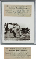 Autographs:Celebrities, Robert Frank James: Two Personal Checks Signed by the Only Son ofFrank James.... (Total: 2 )