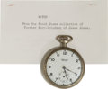 Antiques:Clocks & Watches, Frank James Pocket Watch. ...