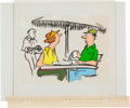 Animation Art:Color Model, Rowland B. Wilson Irving Trust Ad Storyboard and Color ModelCel Original Animation Art Group (undated).... (Total: 2 Items)