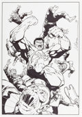 Original Comic Art:Splash Pages, James Calafiore Hulk Pin-Up Original Art (Marvel, 1998)....