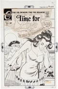 Original Comic Art:Covers, Art Cappello and Charles Nicholas Time for Love #18 CoverOriginal Art (Charlton, 1970)....
