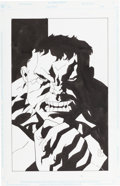 Original Comic Art:Splash Pages, Matt Smith Hulk Pin-Up Original Art (Marvel, 2000)....