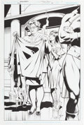Original Comic Art:Splash Pages, Dale Eaglesham Justice Society of America #10 Page 1 Splash Original Art (DC, 2007)....