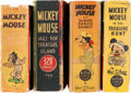 Big Little Book:Miscellaneous, Big Little Books Mickey Mouse Group (Whitman, 1933-43) Condition:Average VG.... (Total: 4 Items)