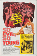 """Movie Posters:Exploitation, So Evil, So Young & Other Lot (United Artists, 1961). One Sheets (2) (27"""" X 41""""). Exploitation.. ... (Total: 2 Items)"""