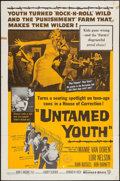 "Movie Posters:Exploitation, Untamed Youth (Warner Brothers, 1957). One Sheet (27"" X 41"") &Lobby Card Set of 8 (11"" X 14""). Exploitation.. ... (Total: 9Items)"