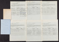 Hal Roach Studios Archive Lot (Hal Roach/MGM, 1935-1937). Autographed Documents (7), Typed Document, Typescript, Carbon...