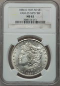 """Morgan Dollars, 1884-O $1 Vam-25, Multiple Punched Date """"88"""" MS62 NGC. Hot-50. PCGSPopulation (21/27).. From The Par..."""