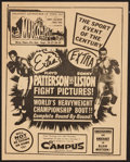 "Movie Posters:Sports, Patterson vs. Liston (Allied Artists, 1962). Special Poster (8.5"" X 11""). Sports.. ..."