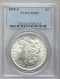 Morgan Dollars: , 1890-S $1 MS62 PCGS. PCGS Population (1655/7205). NGC Census:(1446/5228). Mintage: 8,230,373. Numismedia Wsl. Price for pr...