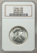 Franklin Half Dollars, 1950 50C MS65 Full Bell Lines NGC. NGC Census: (409/33). PCGSPopulation (257/13). Mintage: 7,793,509. Numismedia Wsl. Pric...