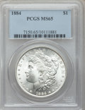 Morgan Dollars: , 1884 $1 MS65 PCGS. PCGS Population (2053/455). NGC Census:(1893/283). Mintage: 14,070,875. Numismedia Wsl. Price for probl...