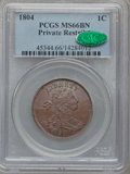 Large Cents, 1804 1C Restrike MS66 Brown PCGS. CAC....