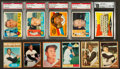 Baseball Cards:Lots, 1960, 1961 and 1962 Topps Baseball Collection (217) With Stars,Mantle, Mays (wrong back), Clemente. ...