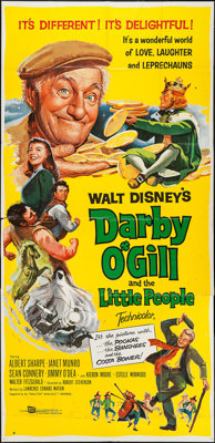 "Darby O'Gill and the Little People (Buena Vista, 1959). Three Sheet (40"" X 82""). Fantasy"