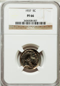 Proof Buffalo Nickels: , 1937 5C PR66 NGC. NGC Census: (481/361). PCGS Population (766/447).Mintage: 5,769. Numismedia Wsl. Price for problem free ...