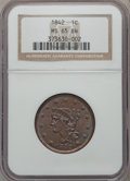 Large Cents, 1842 1C Large Date MS65 Brown NGC. N-6, R.1....