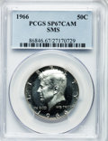 SMS Kennedy Half Dollars, 1966 50C SMS SP67 Cameo PCGS. PCGS Population (259/13). NGC Census:(372/90). Numismedia Wsl. Price for problem free NGC/P...