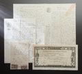 Other:European, RENOIR'S FINANCIAL DOCUMENTS. THE RENOIR COLLECTION. ... (Total: 4Items)