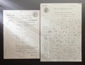 Other:European, RENOIR'S MARRIAGE LICENSE AND MINUTES OF THE MARRIAGE. THE RENOIRCOLLECTION. ... (Total: 2 Items)