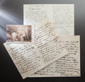 Other:European, CORRESPONDENCE FROM FRIENDS AND COLLEAGUES TO RENOIR. THE RENOIRCOLLECTION. ... (Total: 22 Items)