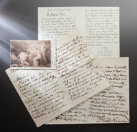 CORRESPONDENCE FROM FRIENDS AND COLLEAGUES TO RENOIR  THE RENOIR COLLECTION