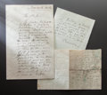 Other:European, THREE LETTERS FROM RENOIR TO UNIDENTIFIED PERSONS. THE RENOIRCOLLECTION. ... (Total: 3 Items)