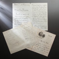 Other:European, COLLECTION OF LETTERS AND DOCUMENTS TO RENOIR. THE RENOIRCOLLECTION. ... (Total: 38 Items)