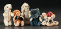 Other:European, FIVE MINIATURE TOY ANIMALS. THE RENOIR COLLECTION. ... (Total: 5Items)